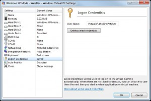 Virtual Machines Logon Credentials Settings