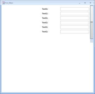 MS Access - Sliding/Shutter Subform Example | DEVelopers HUT