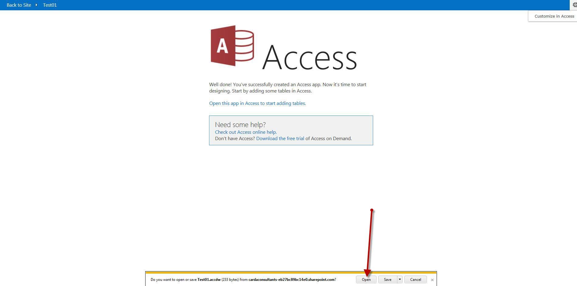 oficce access
