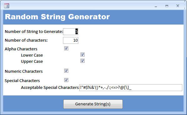 Random String Generator