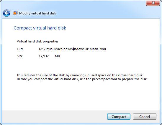 Compact Virtual Hard Disk