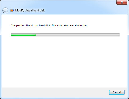 Compacting Virtual Hard Disk