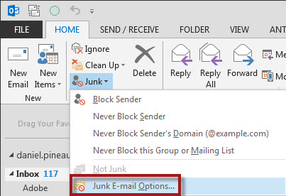 Blocking SPAM from Known Domains in Outlook | DEVelopers HUT