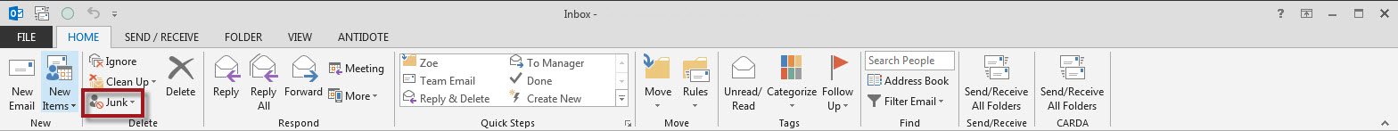 Blocking SPAM from Known Domains in Outlook   DEVelopers HUT
