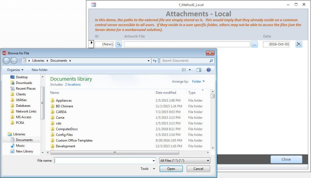 Adding Attachments to an Access Database   DEVelopers HUT