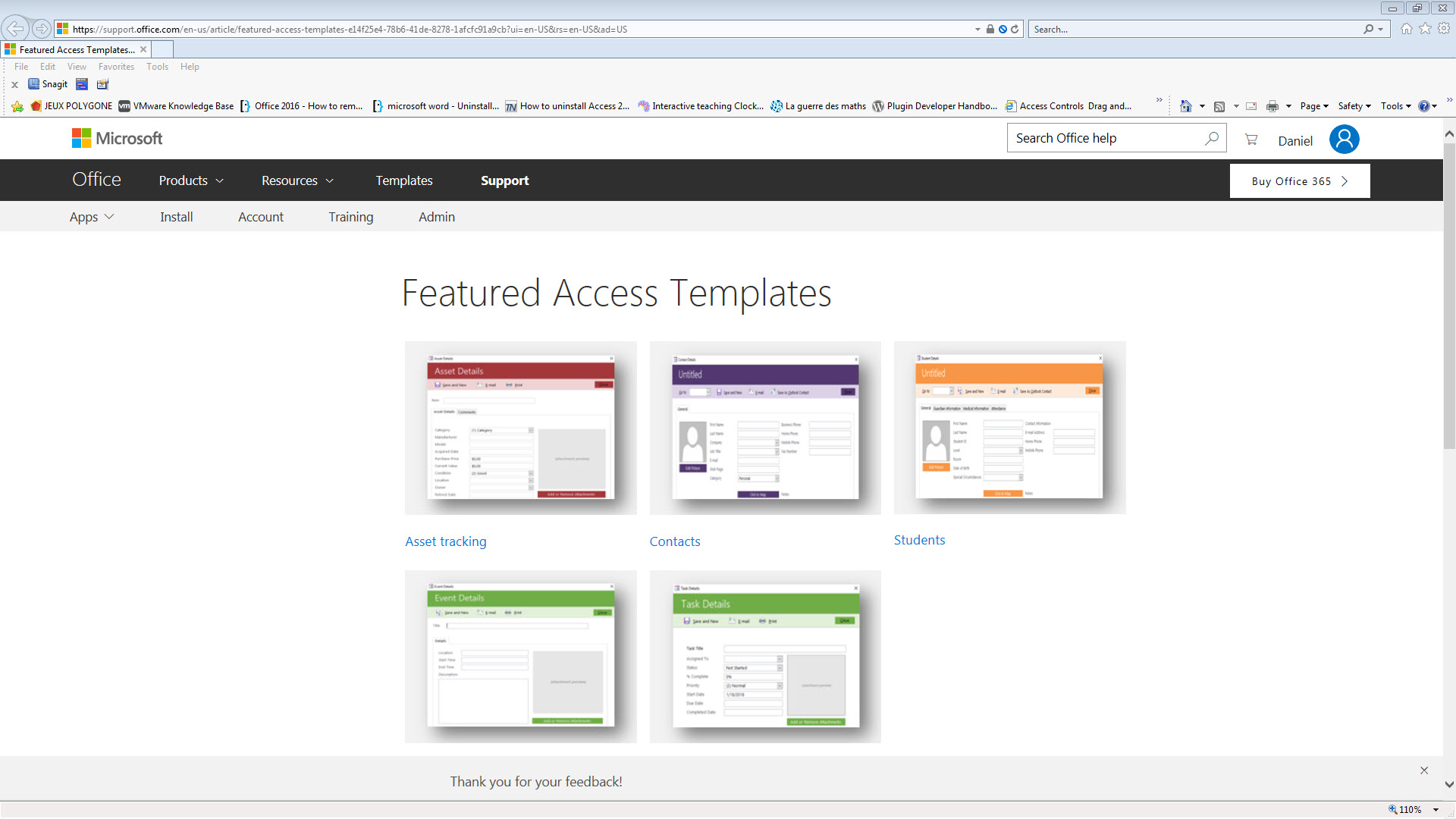 office access templates