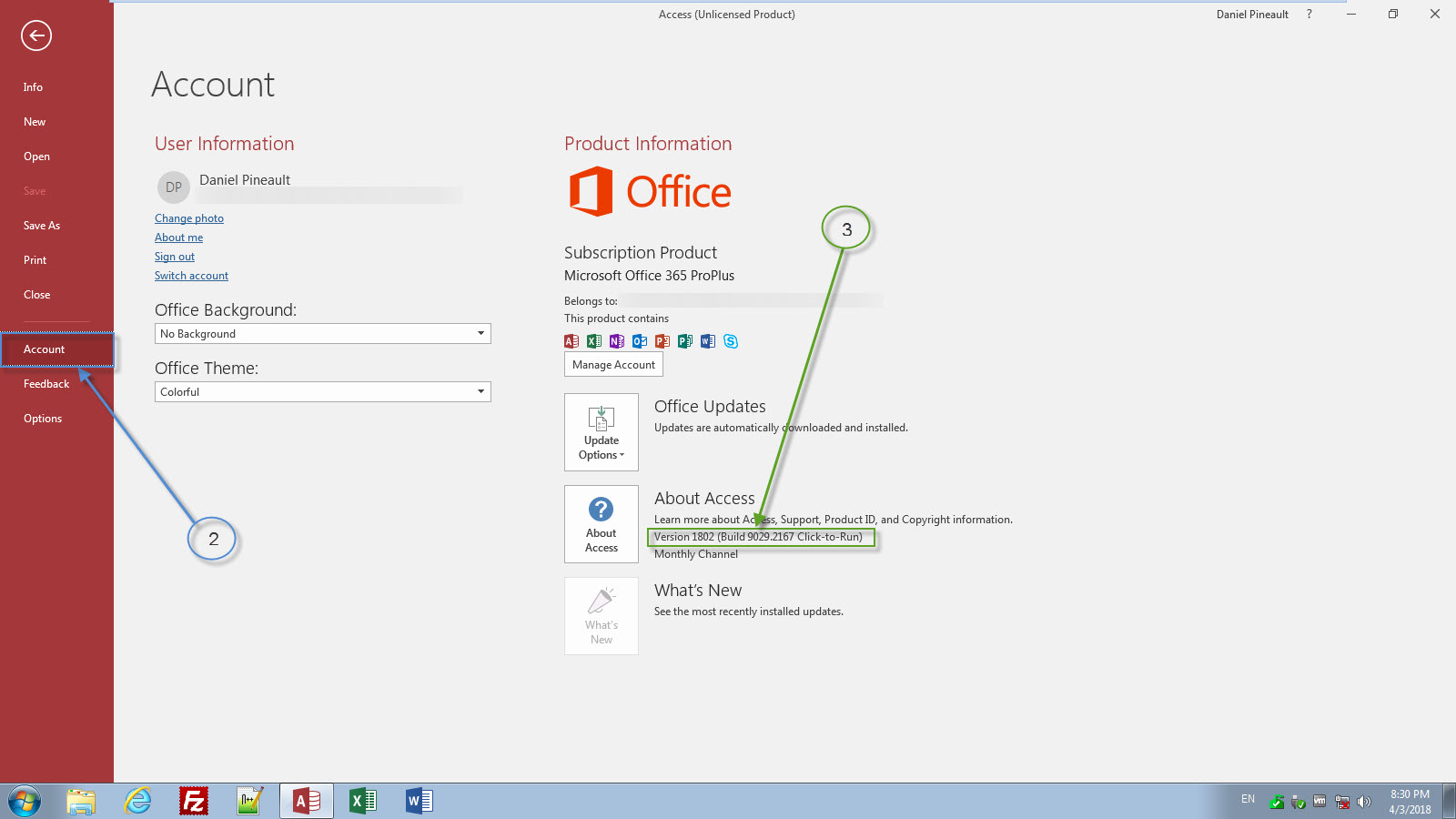 MS Access - Determine Build Number | DEVelopers HUT