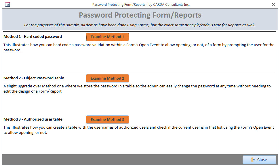 Access - Password Protect a Form or a Report | DEVelopers HUT